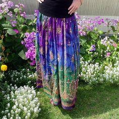Long Gypsy Skirts   Gypsy Skirt: Flowy Maxi Skirt, Long Bohemian Tie Dye Indian Boho Skirt ...