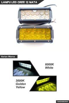 Lampu tembak LED Cree lensa convex super terang, sorot cahaya lebih fokus dengan sudut lebih kecil. Varian warna cahaya putih 6000K dan kuning emas 3000K. Tegangan input lebar bisa digunakan di motor, mobil, dan truck. Lampu ini tersedia di Tokopedia, Shopee, dan Bukalapak Golden Yellow, Led