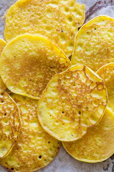 Cachapas: Venezuelan corn pancakes and they're amazing! Both savoury with a hint of sweetness from the corn, they're also soft and very reminiscent of buttermilk pancakes in texture….light and fluffy.