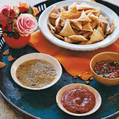 Homemade chips and salsa offer more flavor than store-bought versions. The salsas bring varying colors and flavors to the tortilla chips -- as well as tacos, and even over eggs in the morning.