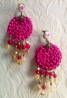 Bougainvillea Earrings by Laladiva.2013. http://complementoslaladiva.com/