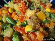 Quinoa con verdure e bacche di goji http://wellnesswithchiarar.blogspot.it/2015/06/una-settimana-pranzo-con-me-3.html