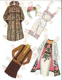 BARBIE PAPER Doll  1963