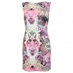 Chloe Printed Laser Cut Dress