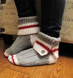 Ravelry: Corvair's Work Sock slippers