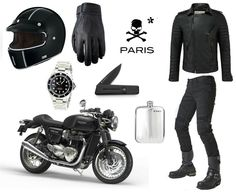 Parisian rider kit by vintage racer.-Parisian rider kit by vintage racer. Parisian rider kit by vintage racer. Motorcycle Equipment, Motorcycle Style, Bike Style, Motorcycle Outfit, Motorcycle Gloves, Cafe Racer Clothing, Yamaha Bikes, Motorcycles, Motorbike Accessories