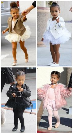 North West cute ballet looks!