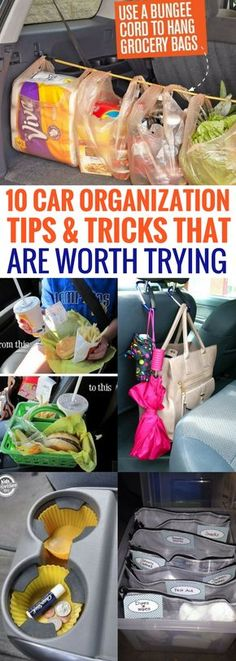 Car organization hacks that are out of this world! I swear, this has been the most helpful car hacks that I've ever read. Seriously grateful for these brilliant car organization ideas