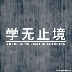 There is no limit in learning Chinese proverbs on learning Chinese Phrases, Chinese Quotes, Chinese Words, Asian Quotes, Basic Chinese, Japanese Quotes, Korean Quotes, Arabic Quotes, Mandarin Lessons