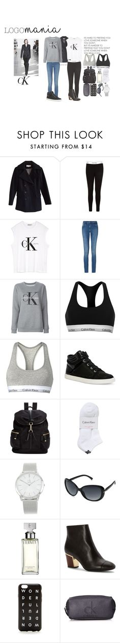 """""""Logo mania: Calvin Klein"""" by pernille-sophie ❤ liked on Polyvore featuring Calvin Klein, Calvin Klein Jeans, Love Quotes Scarves and J.Crew"""