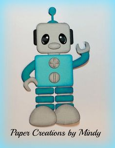 Craftecafe Mindy Robot toys boy girl premade paper piecing for scrapbook page Robot Picture, Paper Punch Art, Disney On Ice, Paper Dolls Book, Scrapbook Embellishments, Treasure Boxes, Box Design, Toys For Boys, Paper Piecing