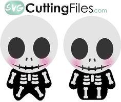 Chibi Skeletons - free SVG Cutting file!