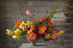Spring bouquet with daffodils, Iceland poppies and Ranunculus (from Floretflowers.com)