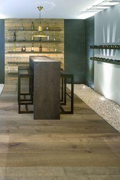 Hakwood European oak flooring and wall
