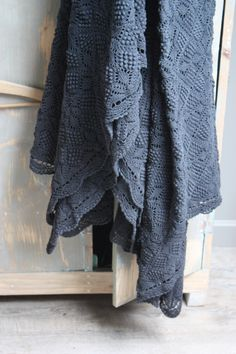 gorgeous crochet blanket. Center out squares with spider motif and bobbles. Lovely.