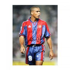 Ronaldo Signed Barcelona Photo - Sports Memorabilia