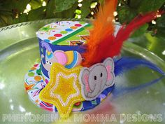 Elephant Circus Birthday Hat Mini Top Hat Photo by PMDBoutique, $22.00