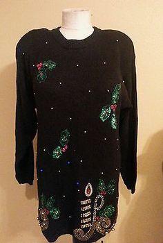 Men Ugly Christmas Sweater Shrek the Halls XXL / XXG Bells Bows ...