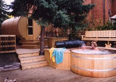 barrel sauna - Ontario Hot Tubs