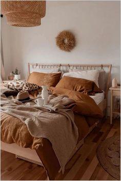 Home Decor Themes Tan bedding on neutral bedroom Tan bedding on neutral . Decor Themes Tan bedding on neutral bedroom Tan bedding on neutral . Earthy Bedroom, Neutral Bedroom Decor, Minimal Bedroom, Boho Bedroom Decor, Aesthetic Bedroom, Bedroom Colors, Bedroom Ideas, Bedroom Brown, Design Bedroom