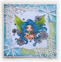 Destiny Snow Whisper Kiss Card #digitalstamps #coloringpages #fairies