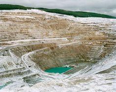 Open pit mining.