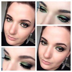 Green Holiday Makeup