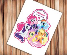 My Little Pony Centerpiece Printable PERSONALIZED Digital File