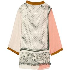 Acne Studios Buran paisley-print twill tunic ($2,360) ❤ liked on Polyvore featuring tops, tunics, white, paisley print top, geometric top, acne studios, oversized tops and oversized tunic