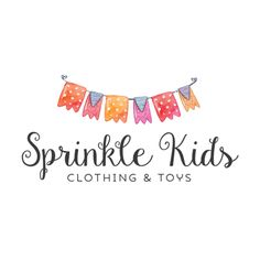 Premade Logo - Bunting Premade Logo Design - Customized with Your Business Name!