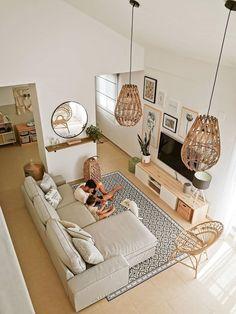 Home Room Design, Home Interior Design, Living Room Designs, House Design, Boho Living Room, Living Room Decor, Living Spaces, Small Living, Living Room Inspiration