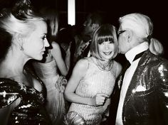 Three fashion heavyweights... #DaphneGuinness #AnnaWintour and #KarlLagerfeld