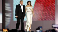 President Donald Trump and his wife, Melania, displayed the New York glamour of their family Friday night in a uniquely American tableau as they all swayed on stage before a backdrop of red, white and blue.