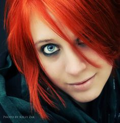 Red Hair, Blue Eyes by *VividButTrivial on deviantART