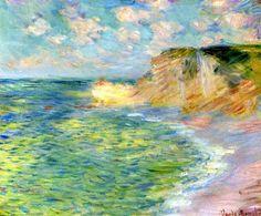 The Cliffs at Amont- Claude Oscar Monet 1885