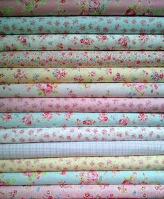 Flora Print Fabrics--want to make some pillow cases out fabric like this and crochet the edges.