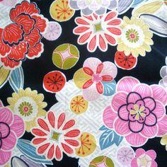 Cotton - Glories the flower - Japanese kimono design print 5, via Flickr.