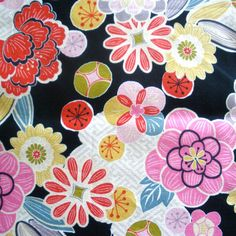 Cotton - Glories the flower - Japanese kimono design print 5, via Flickr.