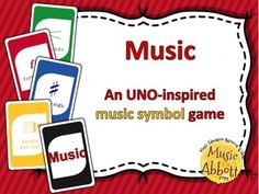 MUSIC: An UNO-inspired Musical Symbol Card Game #musicclass #musiccardgame