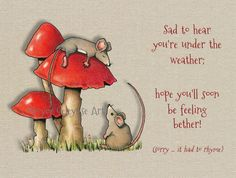 Printable Get Well Card Humour Cute by FreshAirPrintables on Etsy