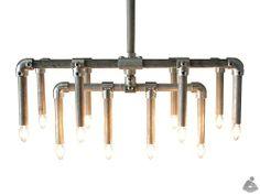Industriële Steigerbuis Hanglamp Down - Unieke industriële steigerbuizen hanglampen geproduceerd door Van Abbevé Hout en Interieur, in diversen afmetingen en kleuren te verkrijgen. Een echte eyecatcher voor boven de eettafel,vergadertafel,of kantine