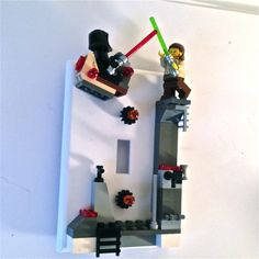 Star Wars LEGO Darth Maul and Qui-Gon Jinn Switch Plate by BrickShtick, $54.00 USD