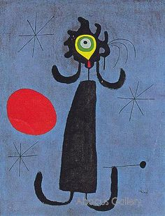 Joan Miro- Woman in Front of the Sun 1950