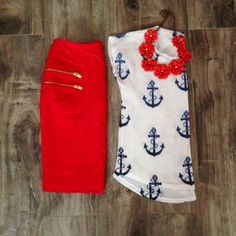Love the shirt!! Would wear with my red maxi skirt!