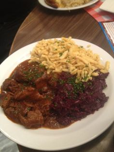 bavarian beef goulash and noodles. Had it at a German restaurant last night and it was delish!
