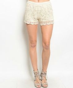Sexy Beige Crochet knit pull on waist lined short shorts festival boho instyle m Crochet Shorts, Crochet Lace, Lace Shorts, Short Shorts, Tribal Outfit, Sequin Tank Tops, Crochet Fashion, Cotton Lace, Fashion Outfits
