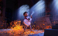 Scarica sfondi Miguel, chitarra, 4k, 3d, animazione, 2017 Film, Coco, Pixar
