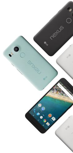 Grid of Nexus 5x on the right