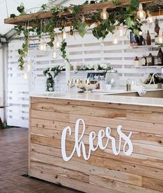 🌿 Cheers to awesome pics from our awesome clients, of our custom laser cut signage 🙌🏻🙏🏻🌿 Signage - us! On Your Wedding Day, Wedding Tips, Dream Wedding, Diy Wedding Bar, Wedding Bar Signs, Laser Cut Signage, Garden Bar, Diy Bar, Wedding Decorations