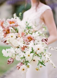"""Say """"I Do"""" Under the Tuscan Sun at the Most Romantic Villa We've Ever Seen Wedding floral arrangement Spring Wedding Flowers, Bridal Flowers, Flower Bouquet Wedding, Floral Wedding, Bridal Bouquets, Spring Weddings, Whimsical Wedding Flowers, Purple Bouquets, Bridesmaid Bouquets"""